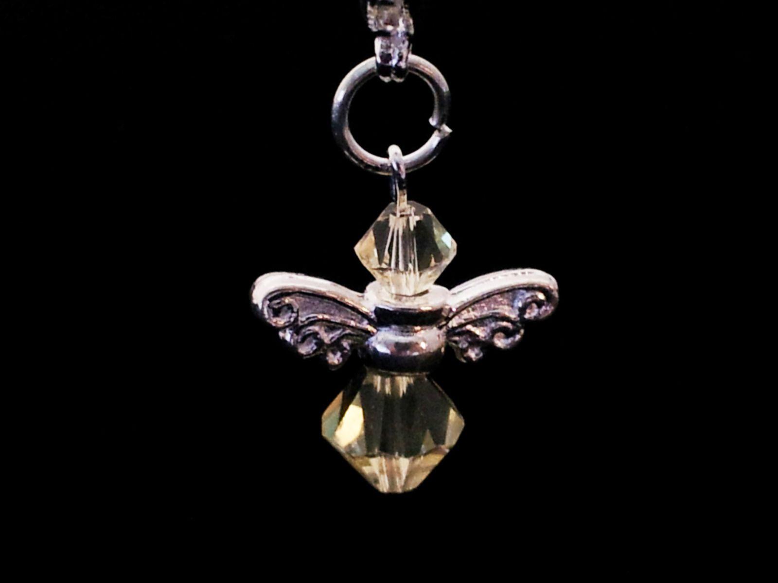 swarovski Crystal Guardian Angel Clip on Christmas Bracelet Bag