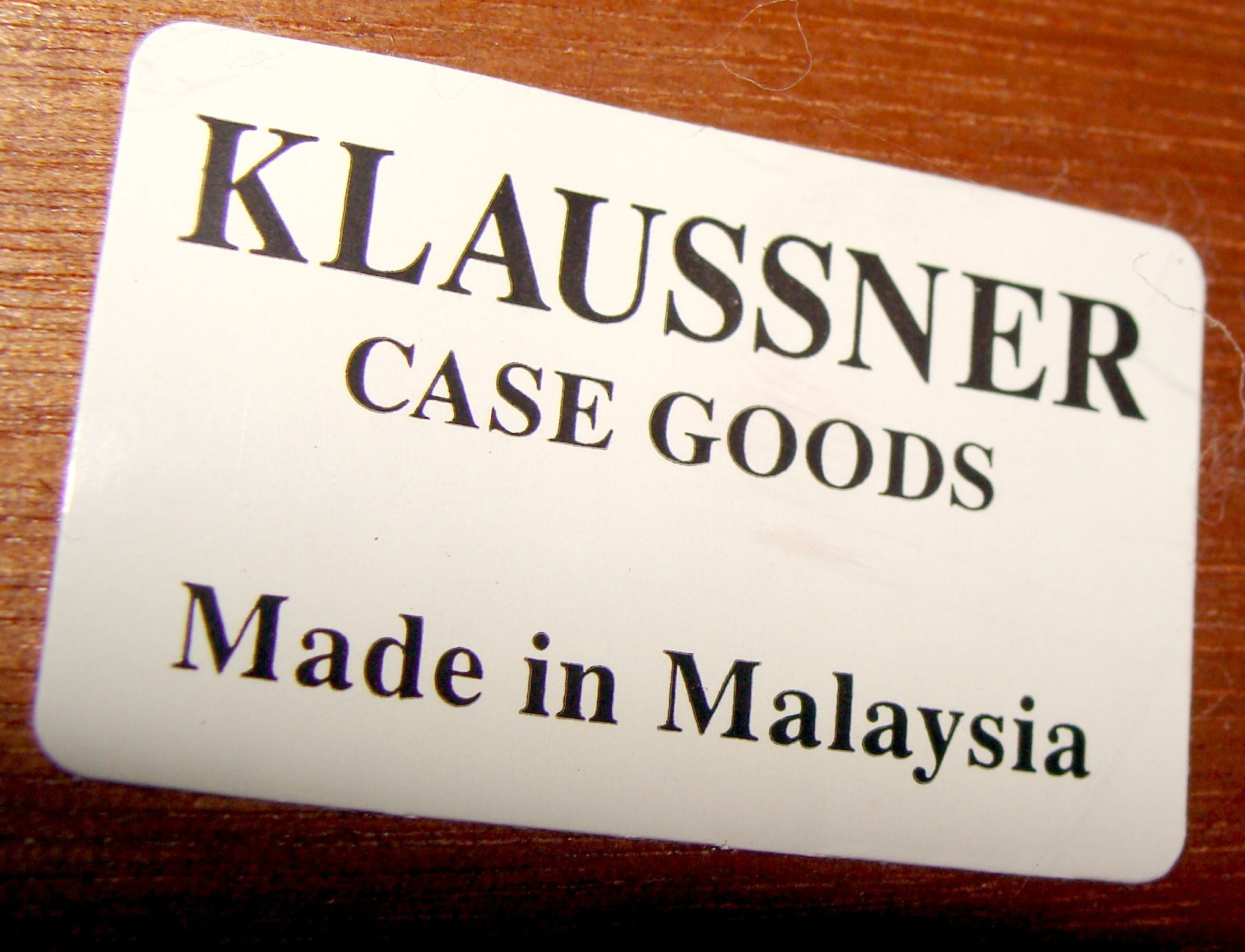 Klaussner Case Goods Modern Inlaid Wood Veneer Console Sofa Table