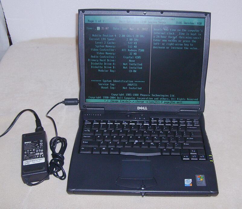 Dell Latitude Intel Pentium 4 Laptop Model PP01L