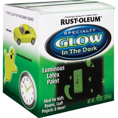 Oleum Specialty 214945 Half Pint Glow In The Dark Luminous Latex Paint