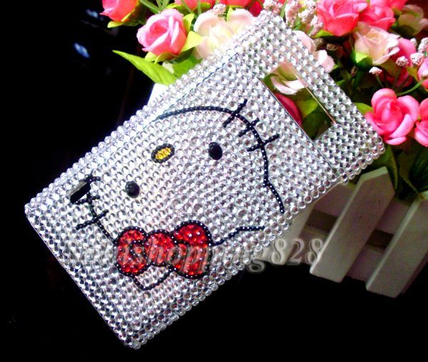Silver Hello Kitty Bling Crystal Hard Case Cover for LG Optimus L7