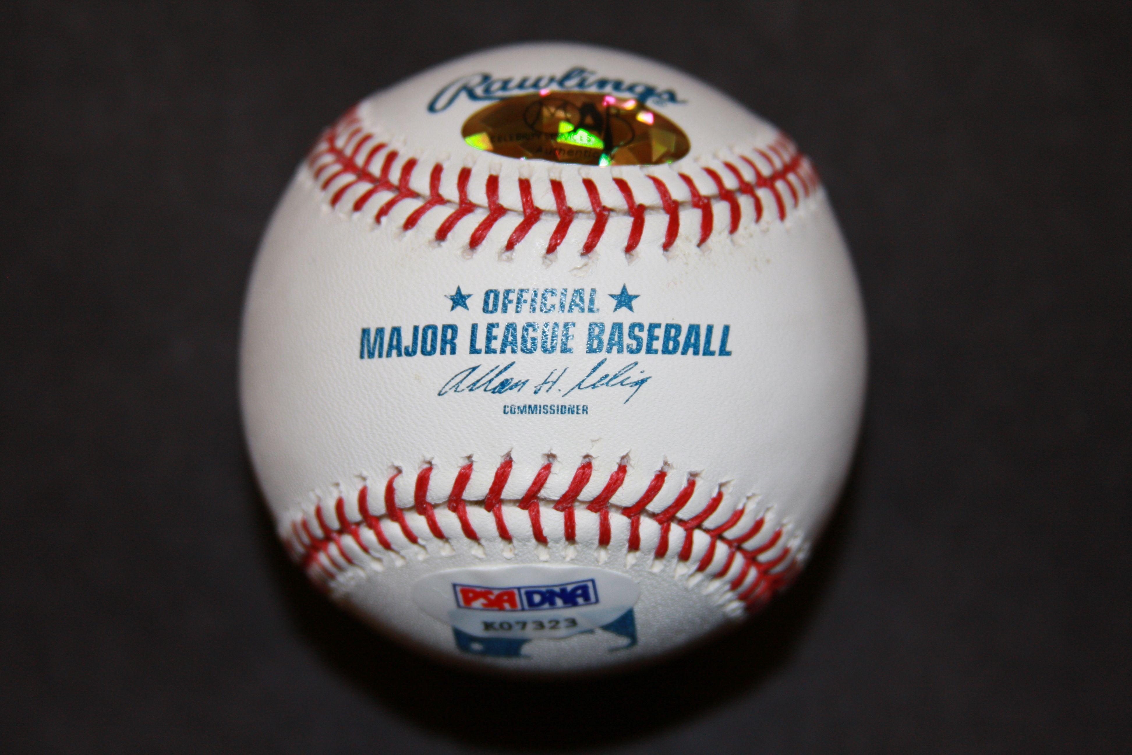 Lou Brock Signed MLB Baseball St Louis Cardinals HOF 85 Inscription