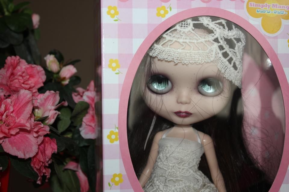 Blythe Doll Custom OOAK Art Doll re Root Natural Hair