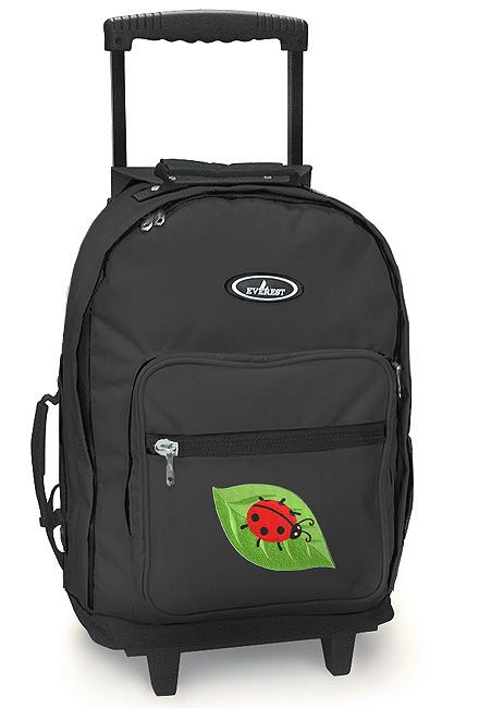 Cute Ladybug Rolling Backpack Wheeled Backpacks Carryon Travel Bags