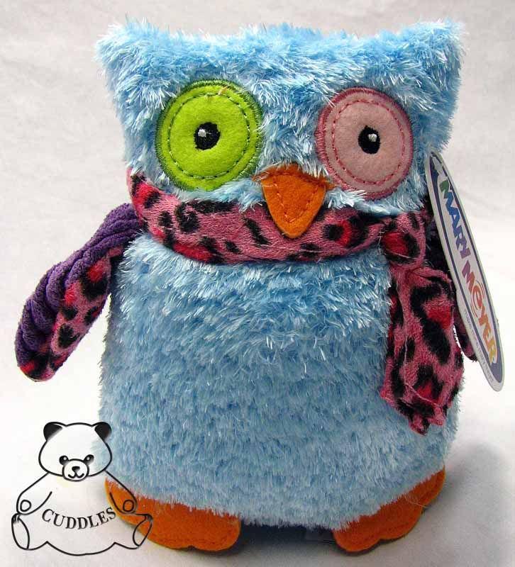 Marys Owl Blue Bird Mary Meyer Plush Toy Stuffed Animal Leopard Print