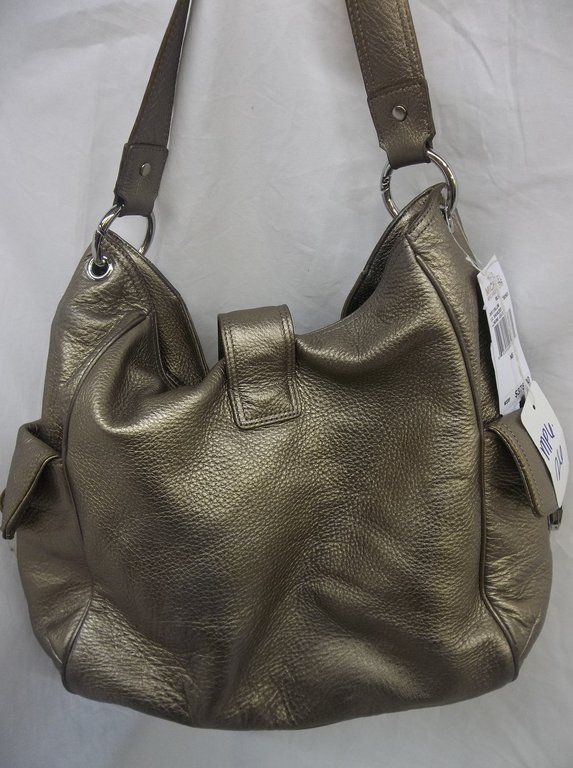 378 00 Michael Kors Riley Large Metallic Shoulder Bag 30S11RLL3M