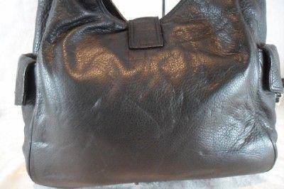 Michael Kors Black Leather Large Riley Shoulder Satchel