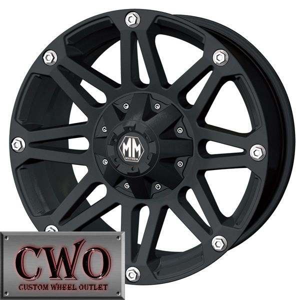 20 Black Mayhem Riot Wheels Rims 6x139 7 6x135 6 Lug Ford F 150 Chevy