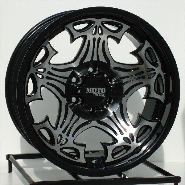 20 inch Black Wheels Rims Chevy GMC 6 Lug 1500 Truck
