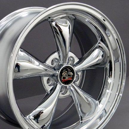 Chrome Bullitt Bullet Style Wheels Rims Fit Mustang® GT 94 06