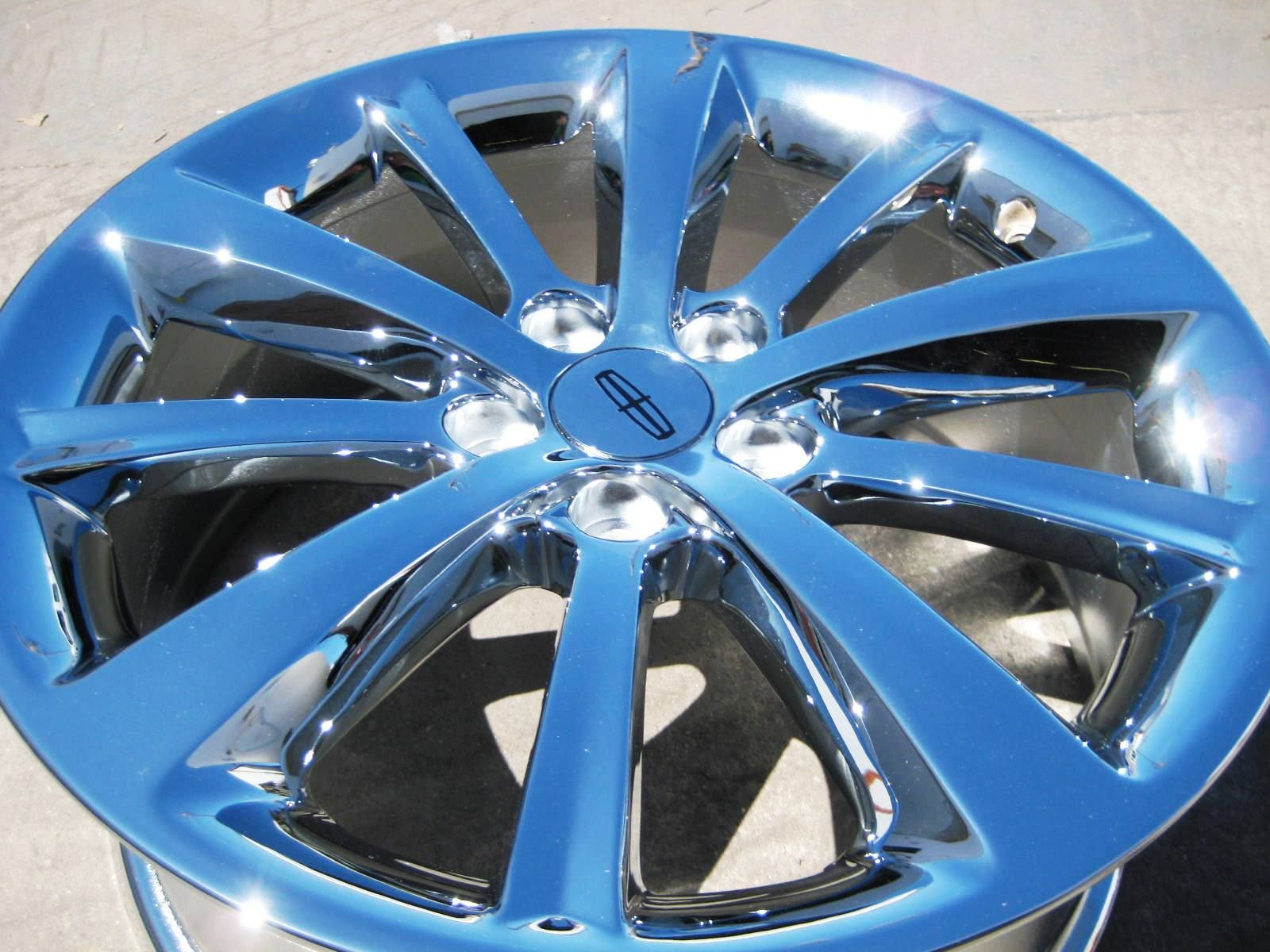 YOUR STOCK 4 NEW 19 FACTORY LINCOLN MKS OEM CHROME WHEELS RIMS 09 12