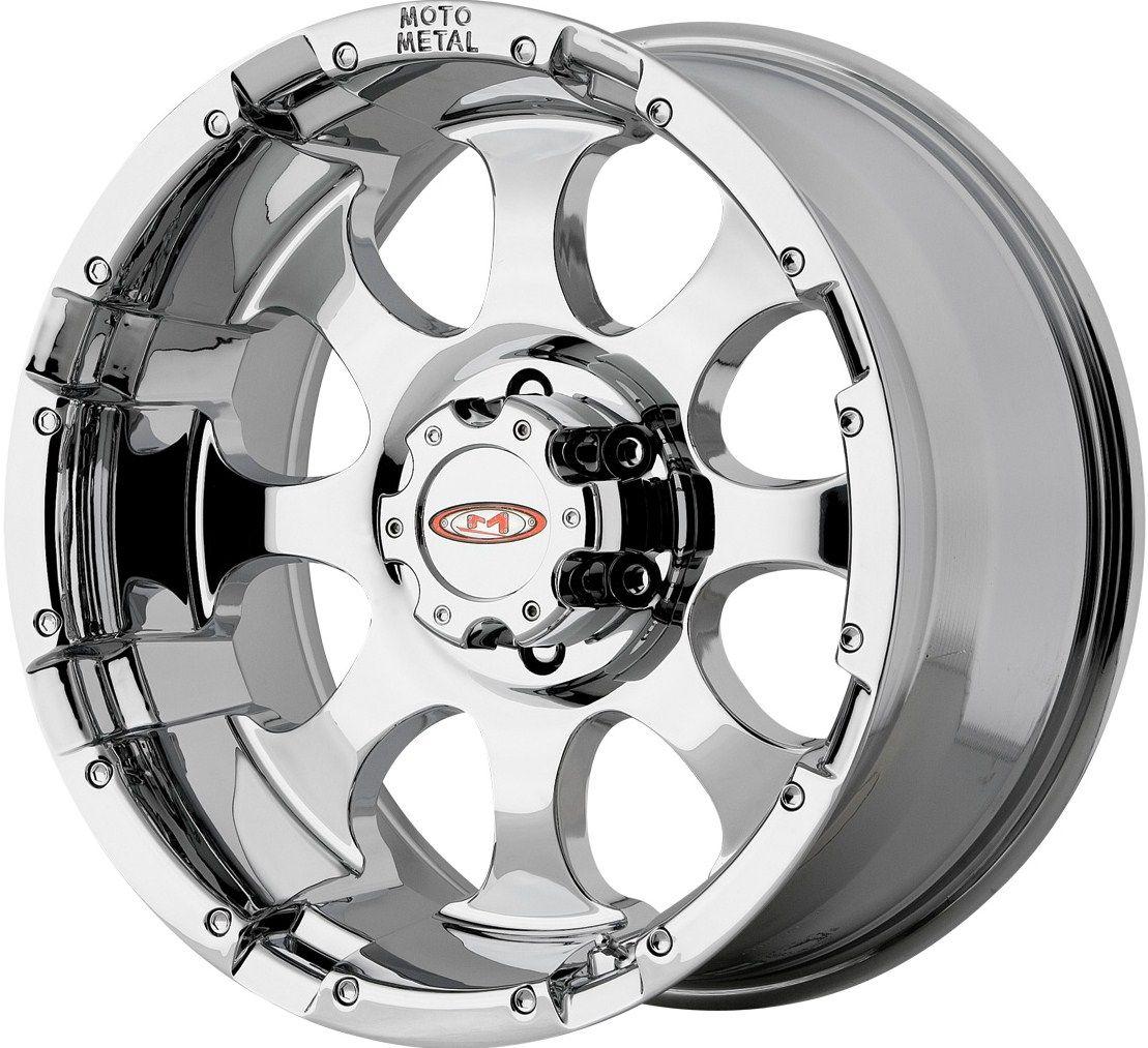17 Chrome Moto Metal 955 Wheels Rims GMC Sierra Silverado Tahoe Yukon