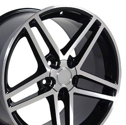18x10 5 Set of 2 Black Corvette C6 Wheels Rims Fit Camaro SS Firebird
