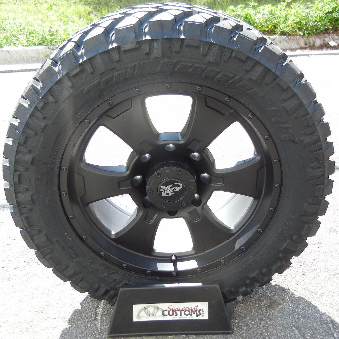 20 Black Procomp Wheels 33 Nitto Trail Tire Chevy Silverado GMC 2500