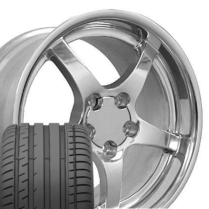 18 17 Polished Wheels Tires Rims Fit Corvette C4 C5 ZR1 Z06