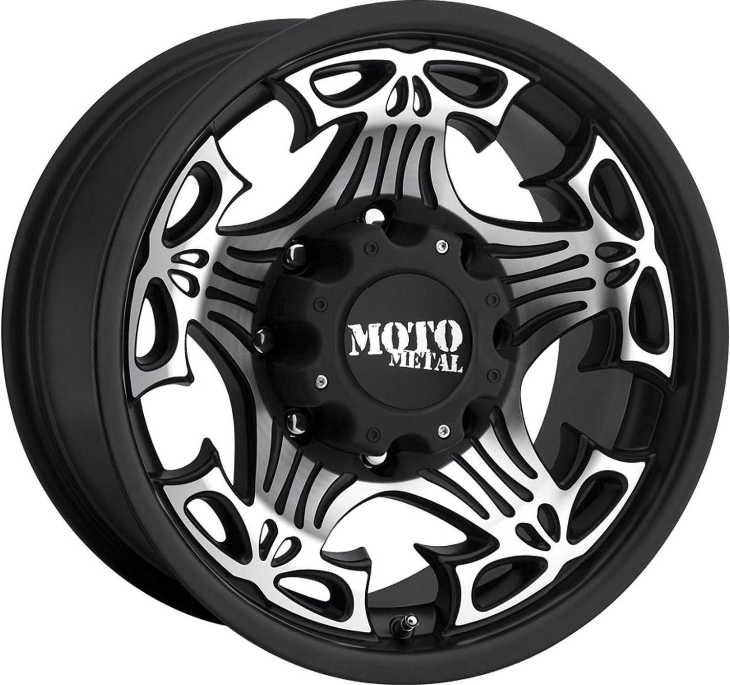 18x9 Moto Metal Black Skull Wheels Rims Jeep Wrangler JK Rubicon 4x4