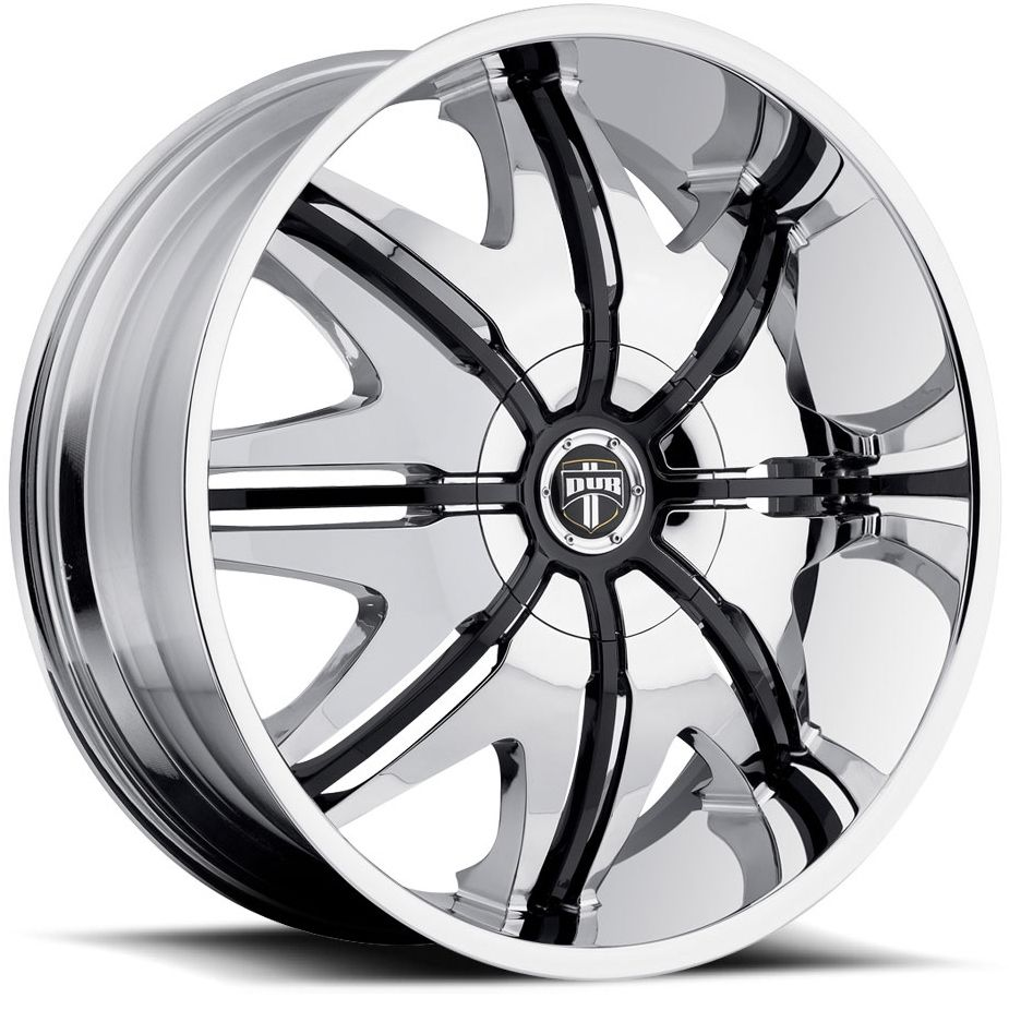 28x10 Chrome Black Dub Doggy Style Wheels Rims Hummer H2 SUT H1 Alpha