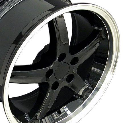 20 Black Cobra Style Wheels Set of 4 Rims Fit Mustang® GT