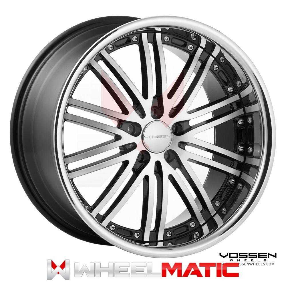 19 Vossen 82 19x8 5 10 5x120 30 36 Black Machined Wheels Rims