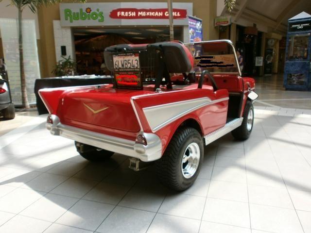 Custom Classic 1957 Chevrolet Bel Air Golf Cart 57 Chevy Two Ten One