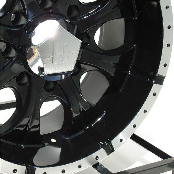 16 inch Black Wheels Rims Chevy GMC HD Dodge RAM 8 Lug