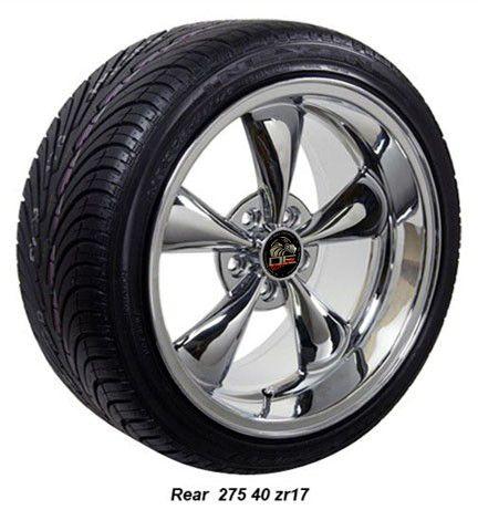 17x9 10 5 Chrome Bullitt Wheels Rims Tires Fit Mustang®