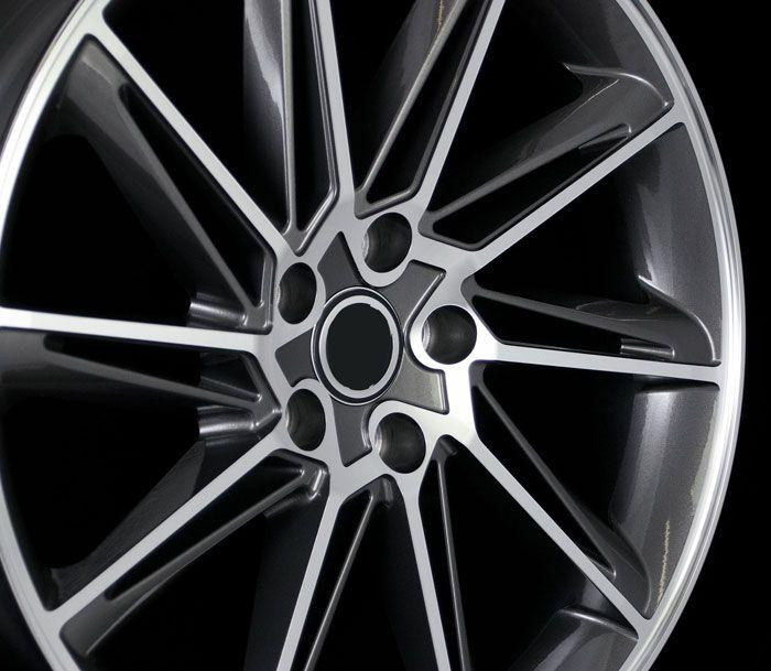 VW CC Style Gun Metal Machined Face Wheels Rims 45 Offset 5x112