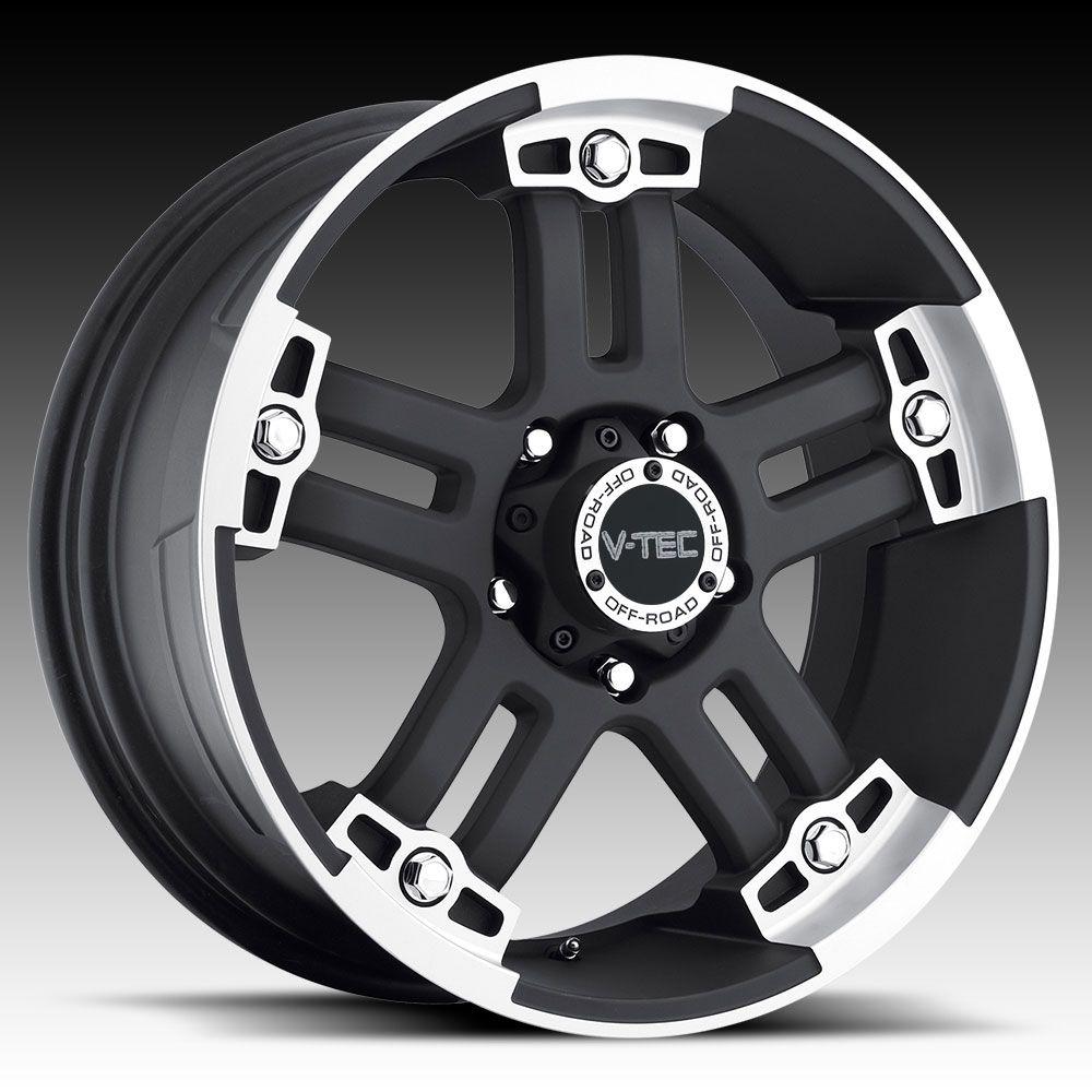 18 inch 6x135 Black Warlord Wheels Rims 6 Lug Ford F150 Expedition