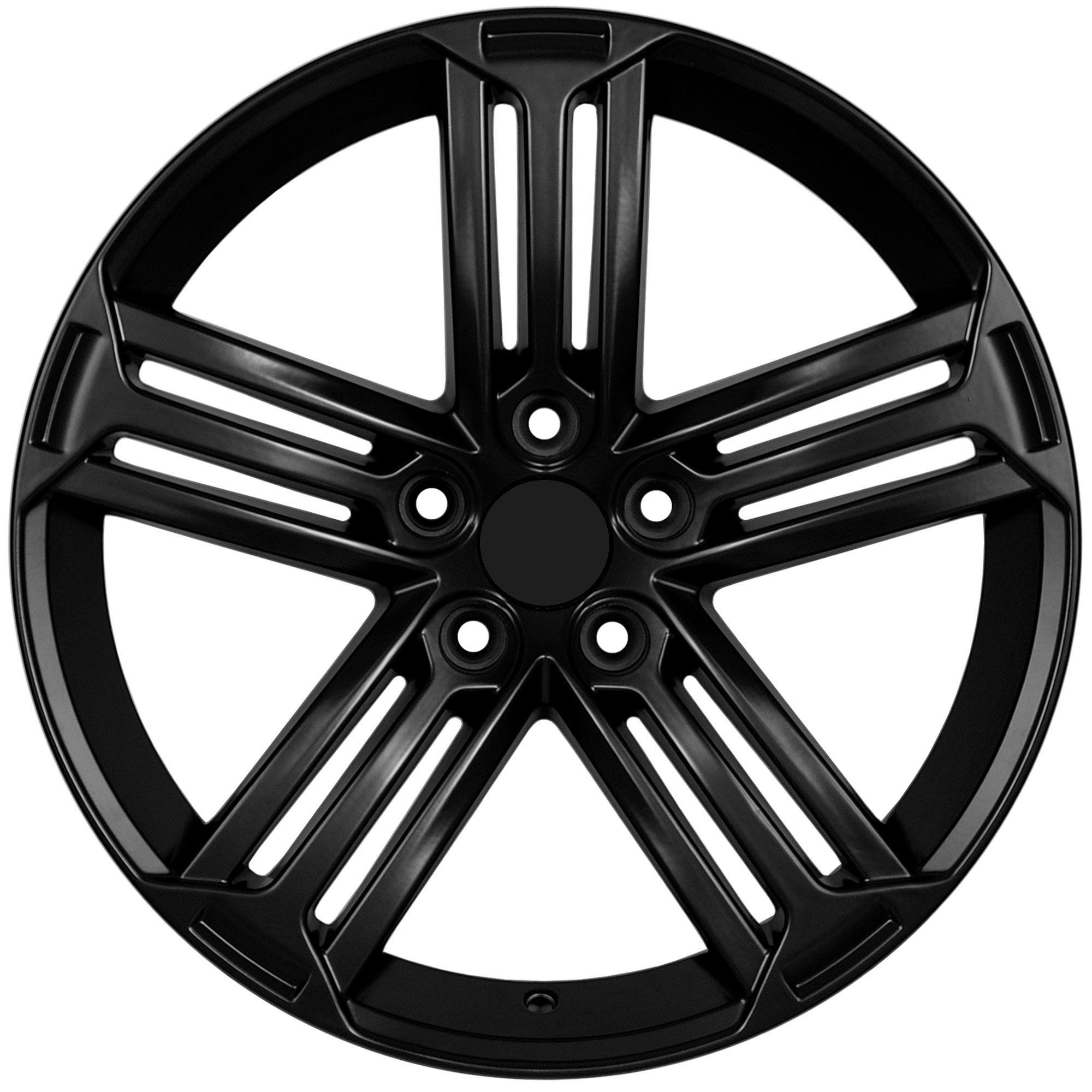 18 VW Golf R Style Matte Black Wheels Rims Fit VW Golf Rabbit GTI MKV