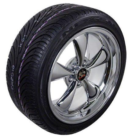 Chrome Bullitt Bullet Style Wheels Tires Rims Fit Mustang® GT