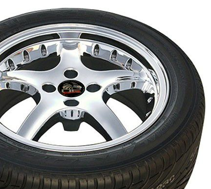 17 x9 Chrome Rims Fit Mustang® Wheels Tires 4 Lug Deep