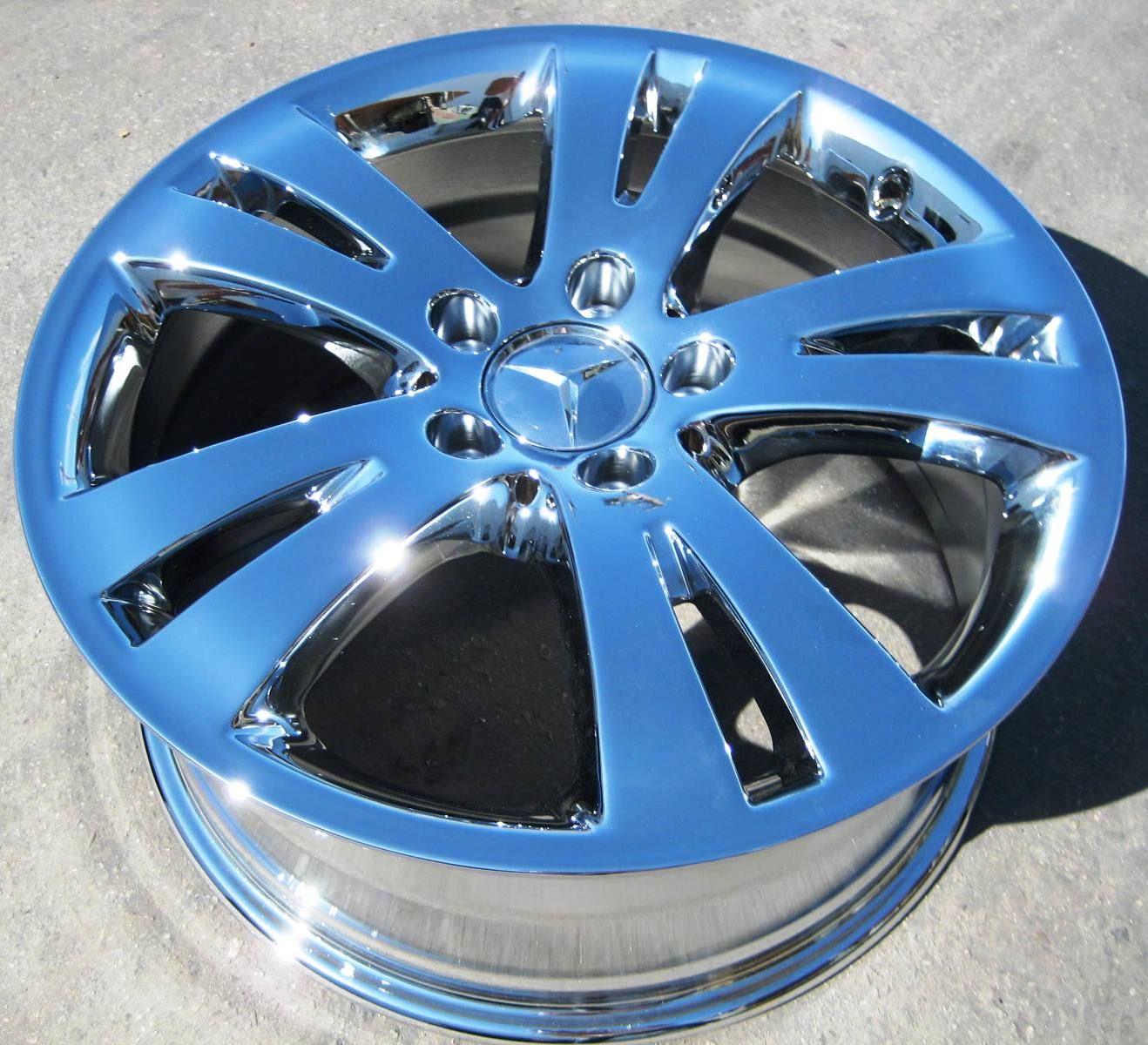 Mercedes C300 C350 E350 E550 Sedan Chrome Wheels Rims Set 4