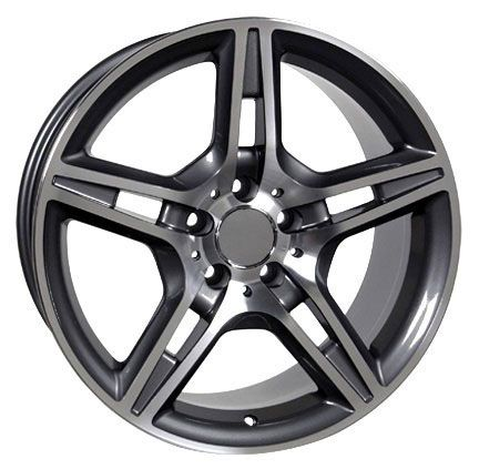 17 AMG Wheels Gunmetal Set of 4 Rims Fit Mercedes C E s Class SLK CLK