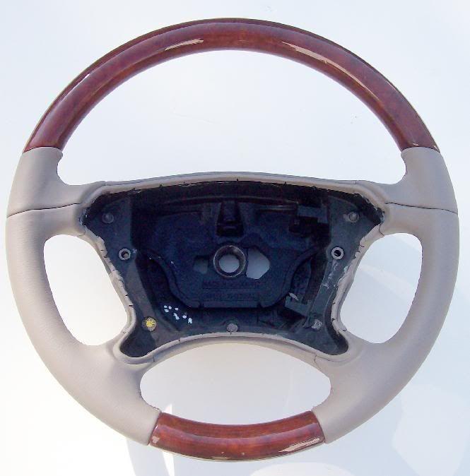 Mercedes CLK 350 Classic Leather Wood Steering Wheel
