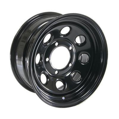 Cragar Soft 8 Black Steel Wheels 15x7 5x5 5 Set of 4