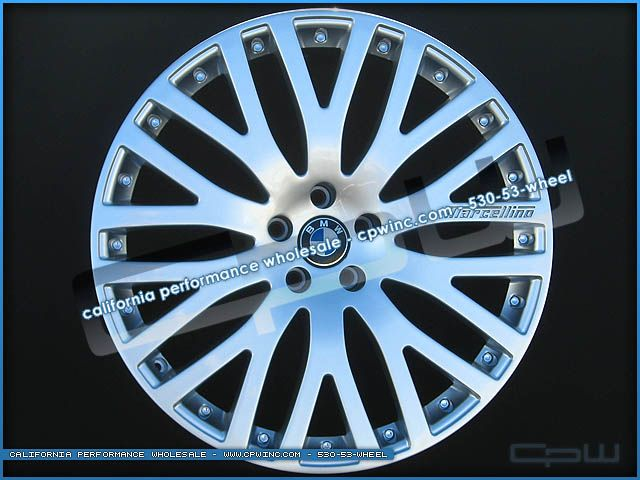 INCH BMW 730 740 750 760 7 SERIES HYPER SILVER WHEELS RIMS WITH TIRES