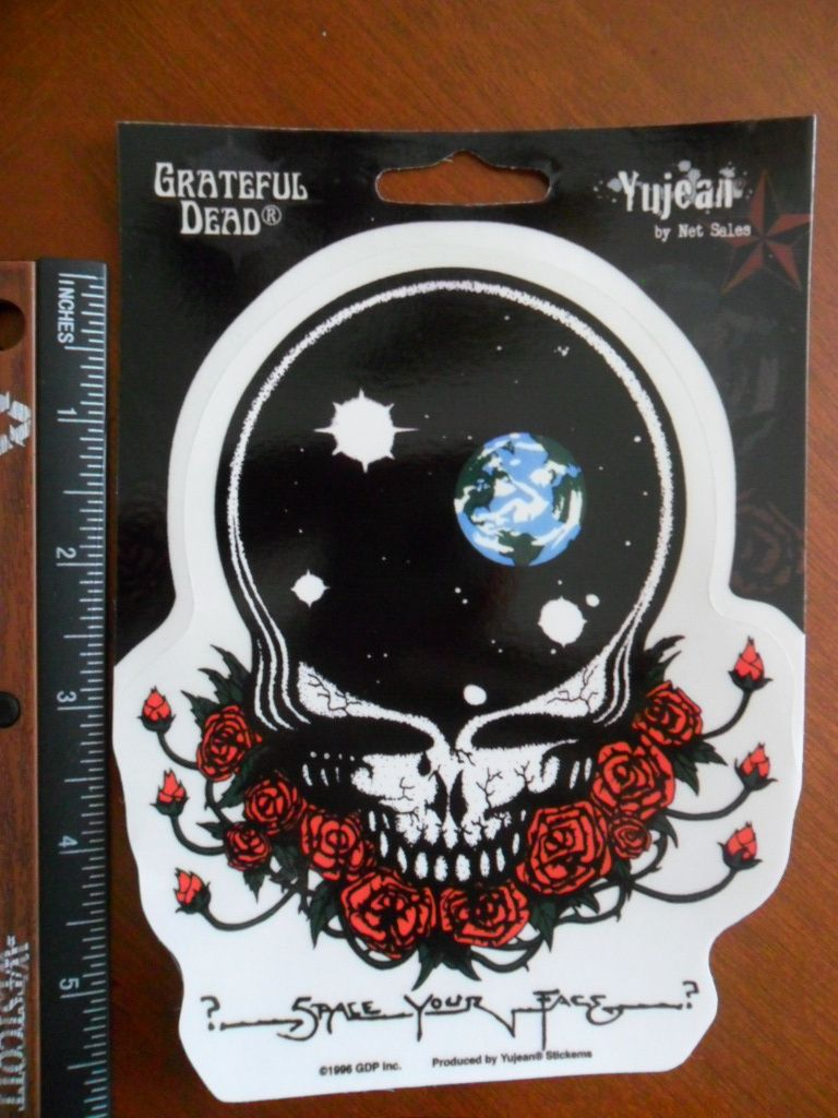 x5 Classic Grateful Dead Space Your Face Window sticker / decal