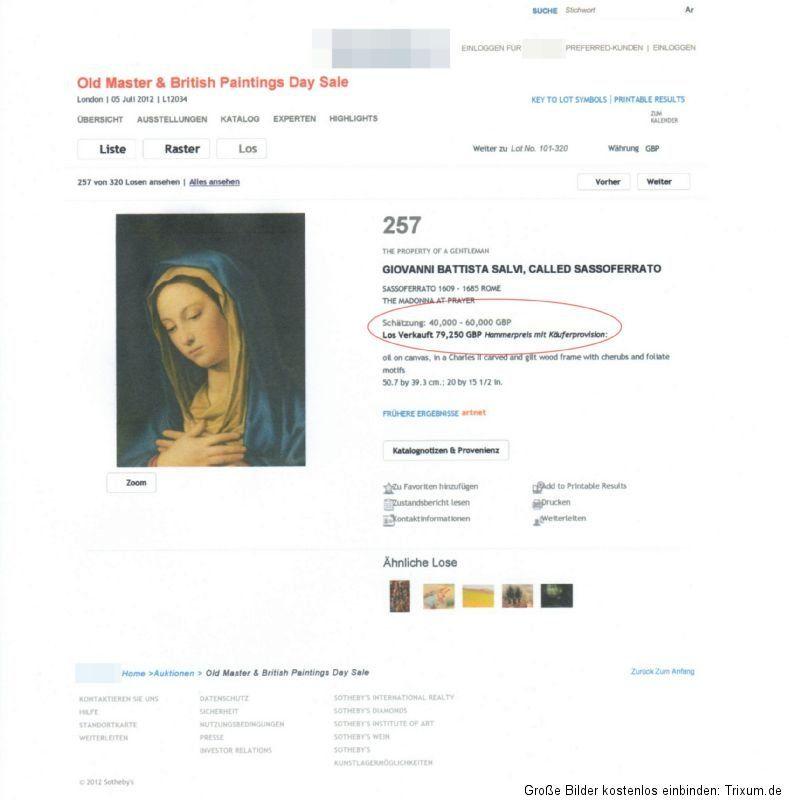 SALVI, GIOVANNI BATTISTA 1605 1685 MUSEAL HIGH QUALITY ÖL/LW