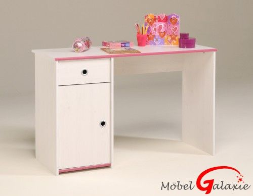 Bett Hochbett Funktionsbett Schreibtisch Kommode Weiss Pink Oder Weiss