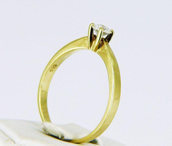 Brillantring Goldschmuck 585er Gold RING Solitär Brillant ca. 0,2