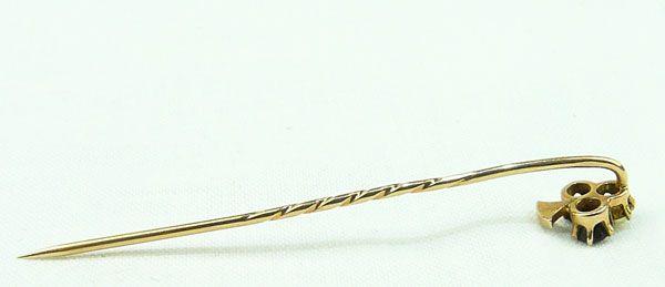 Granaten Perlen Rot Gold 580 österr. Einfuhrpunze 1872   1901