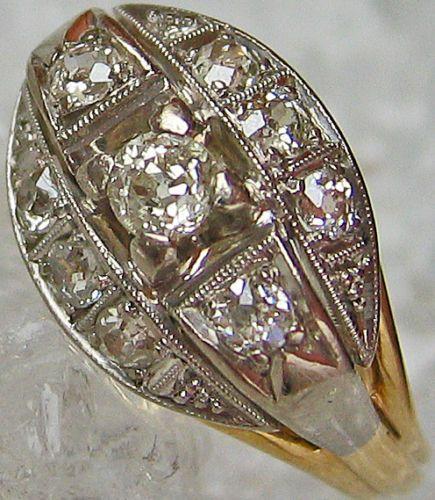 Diamantringe Goldringe 14kt 585 Gold Ring Schmuck Diamant Artdecoring