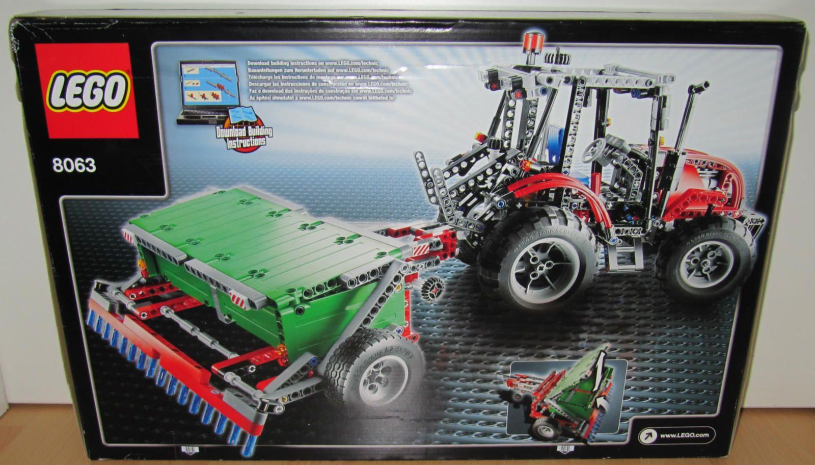 lego technik 8063 traktor mit anh nger neu ovp. Black Bedroom Furniture Sets. Home Design Ideas